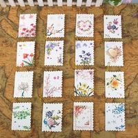 160pcs Beautiful Small Greeting Card Flash Pink Flower Birthday Card Family Message Card