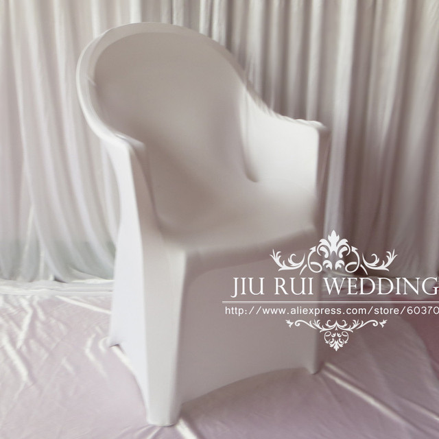 100 Pcs Free Shipping Spandex Lycra Plastic Arm Chair Cover For Wedding Party Decor