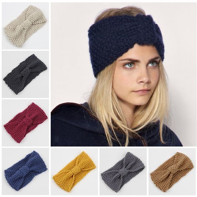 Aliexpress Buy Winter Adult Crochet Knitted Headbands For Hair