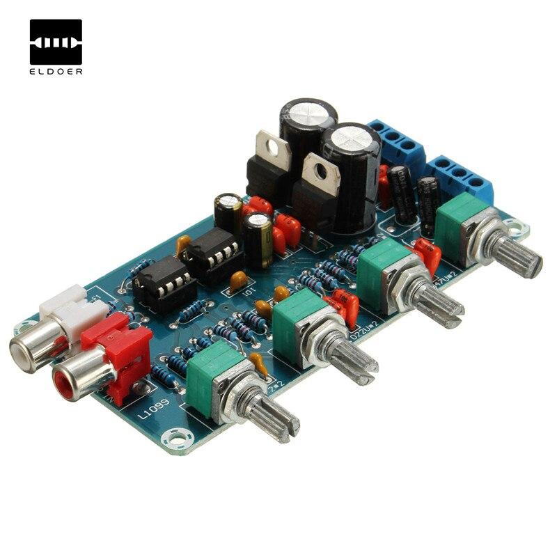 NE5532 OP AMP HIFI Amplifier Preamplifier Volume Tone EQ Control Board DIY Kits 112x68x23mm Electric modules