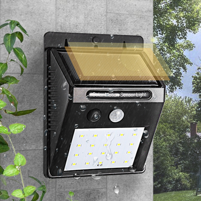Solar Lamp Outdoors Garden Decoration Lighting 20 LED Motion Sensor Wall Light Pathway Energy Saving Power Patio Yard Lamp