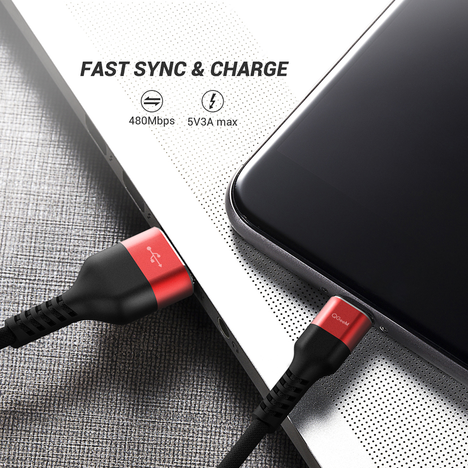Image 3 - QGeeM Micro USB Cable 2.4A Nylon Fast Charge USB Data Cable for Samsung Xiaomi LG Tablet Android Mobile Phone USB Charging Cable-in Mobile Phone Cables from Cellphones & Telecommunications on
