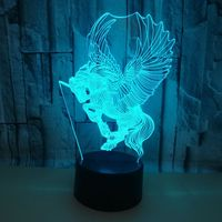 7 색 변경 터치 3d nightlight 공장 도매. 어린이 방 데코 책상 램프 크리스마스 장식 조명 테이블 램프
