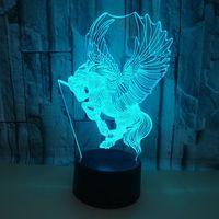 7 farbe ändern Touch 3d Nachtlicht Fabrik großhandel. Kinder zimmer Deco Schreibtisch Lampe Weihnachten dekorative lichter Tisch Lampen-in LED-Tischleuchten aus Licht & Beleuchtung bei