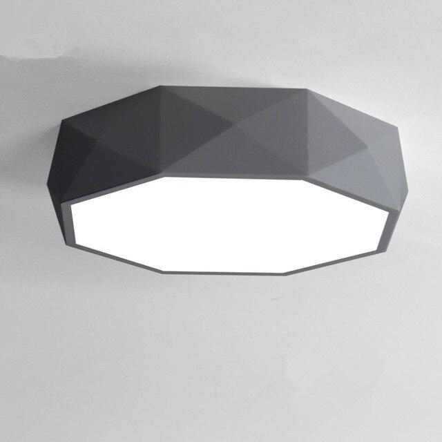 Lámpara de techo LED blanco negro lamparas de techo Marco de metal ...