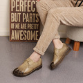 Handmade genuine leather women's shoes vintage female moccasins loafers soft cow muscle outsole casual shoes flats