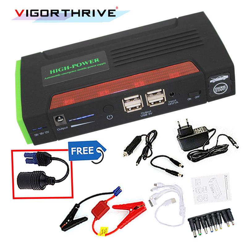 Voiture batterie Booster batterie externe numérique LCD affichage voiture saut démarreur pour SOS lumières chargeur de voiture démarrage dispositif boussole jumper