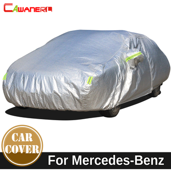 Cawanerl Waterproof Car Cover Sun Snow Rain Protect Cover For Mercedes Benz S Class W126 C126 W140 V140 C140 W220 W221 W222 C217