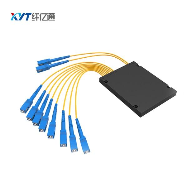 Blockless 2x8 ABS Box type Fiber Optical PLC Splitter 2:8 SC/UPC optic splitter
