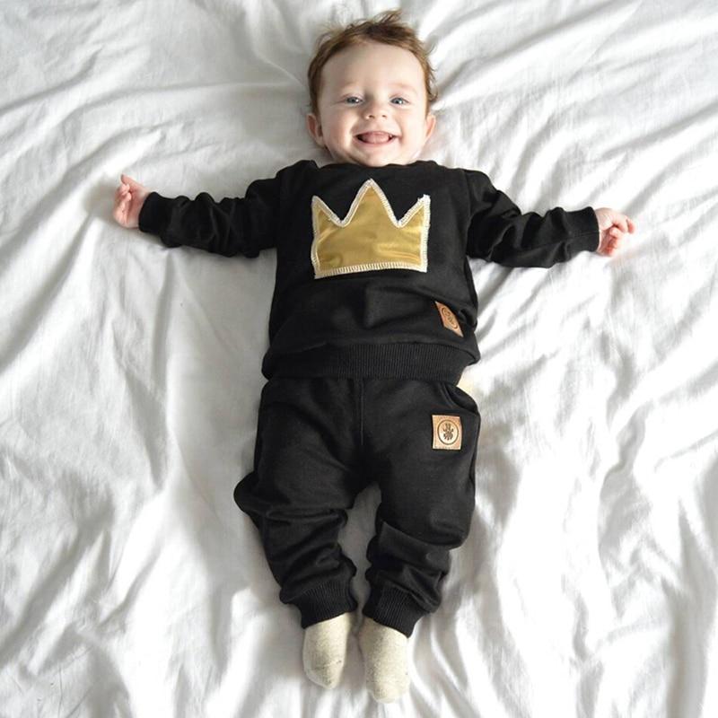 2 шт., детский хлопковый комплект одежды для мальчиков 3-24 месяцев