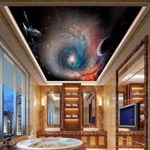 Custom 3D wallpaper Star Universe gorgeous ceiling thick non-woven can be scrubbed living room TV Sofa decor