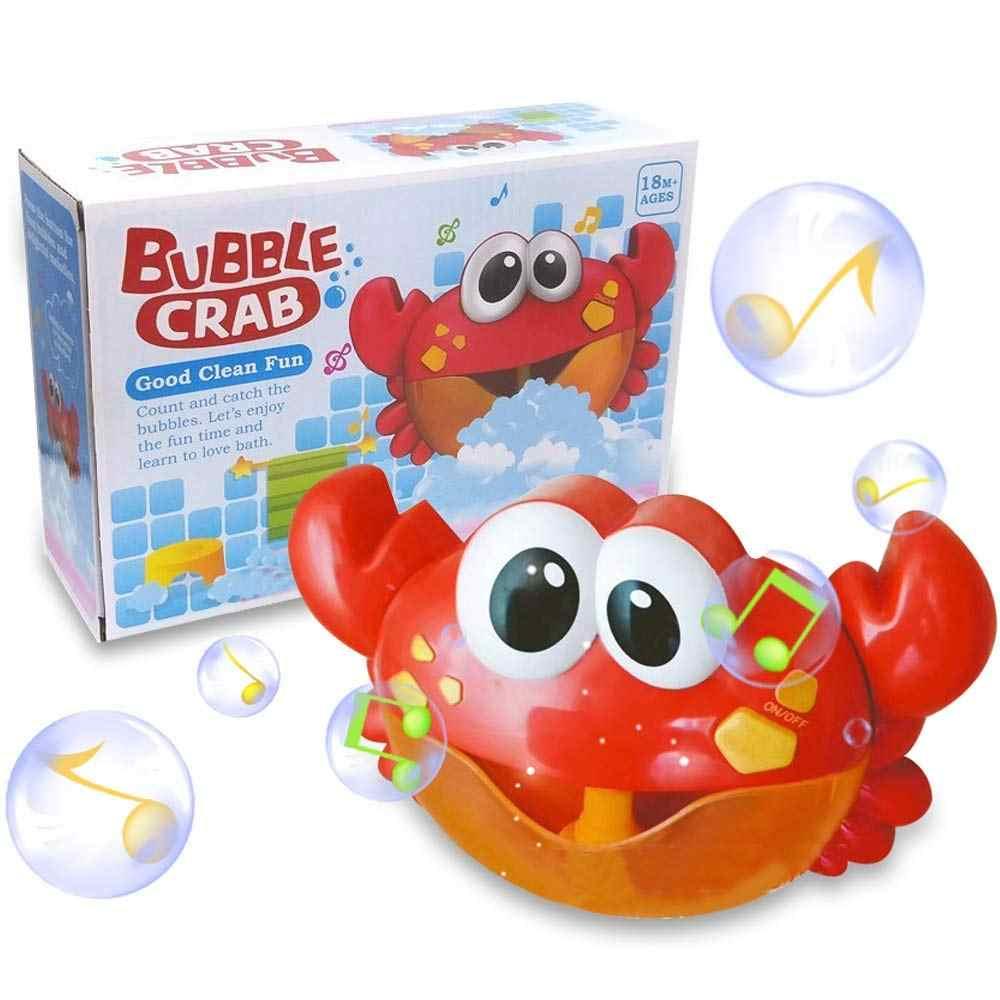 ベビーバスおもちゃ保育園バブルブロワー機械と子供のための音楽バスタイム楽しい浴槽カニ & カエルくじらバブルメーカー水泳ウォーターおもちゃ