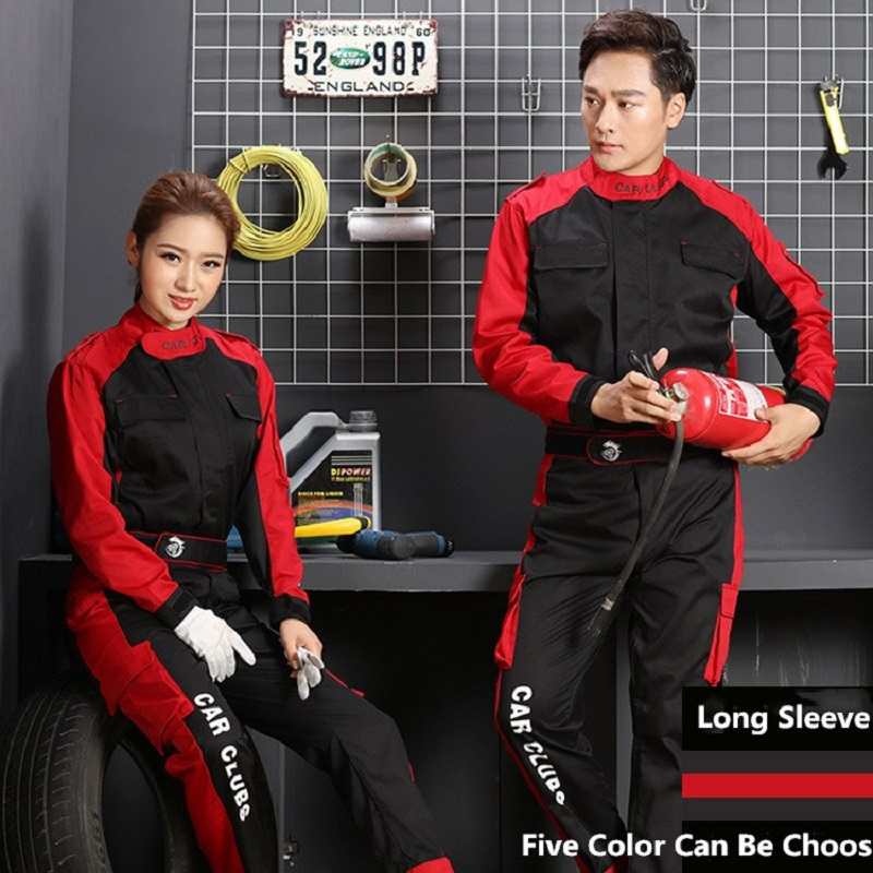 Auto Repair Work Clothes Long Sleeve Suit Auto Repair Clothing Autumn Top Auto Beauty Repair Car Wash Durable Breathable