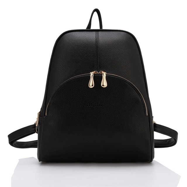 2015 New Casual Women Backpack Female PU Leather Women s Backpacks Bagpack  Bags Travel Bag back pack Free Shipping d3d77d4d5f