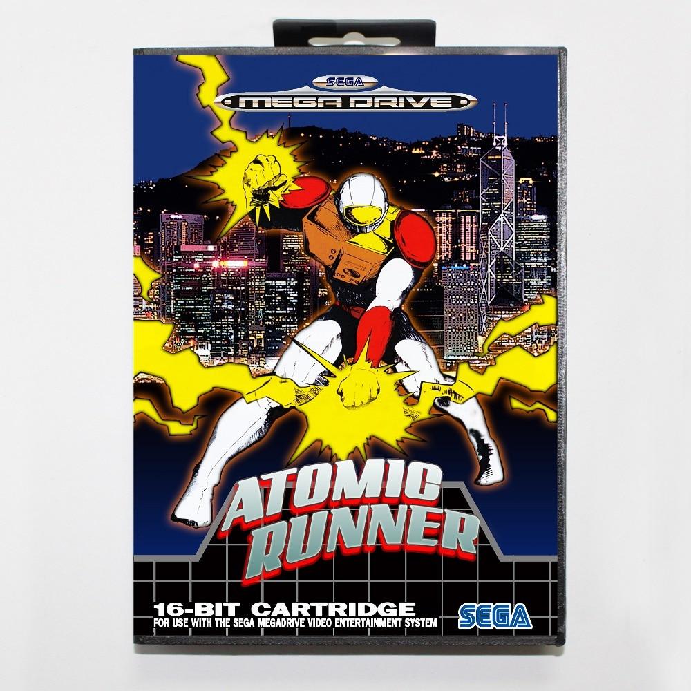 Atomic runner 16 bit SEGA MD Game Card With Retail Box For Sega Mega Drive For Genesis