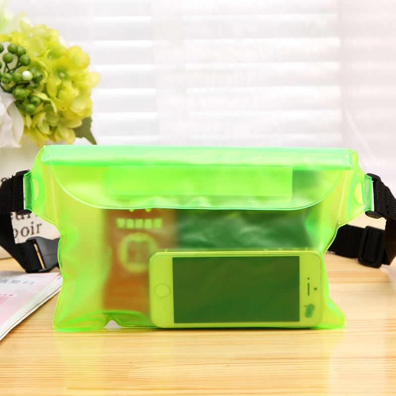 Trendy Triple Sealed Waterproof Bag Phone Outdoor Jacket Drifting Swimming Bags PVC Waist Pockets TN88