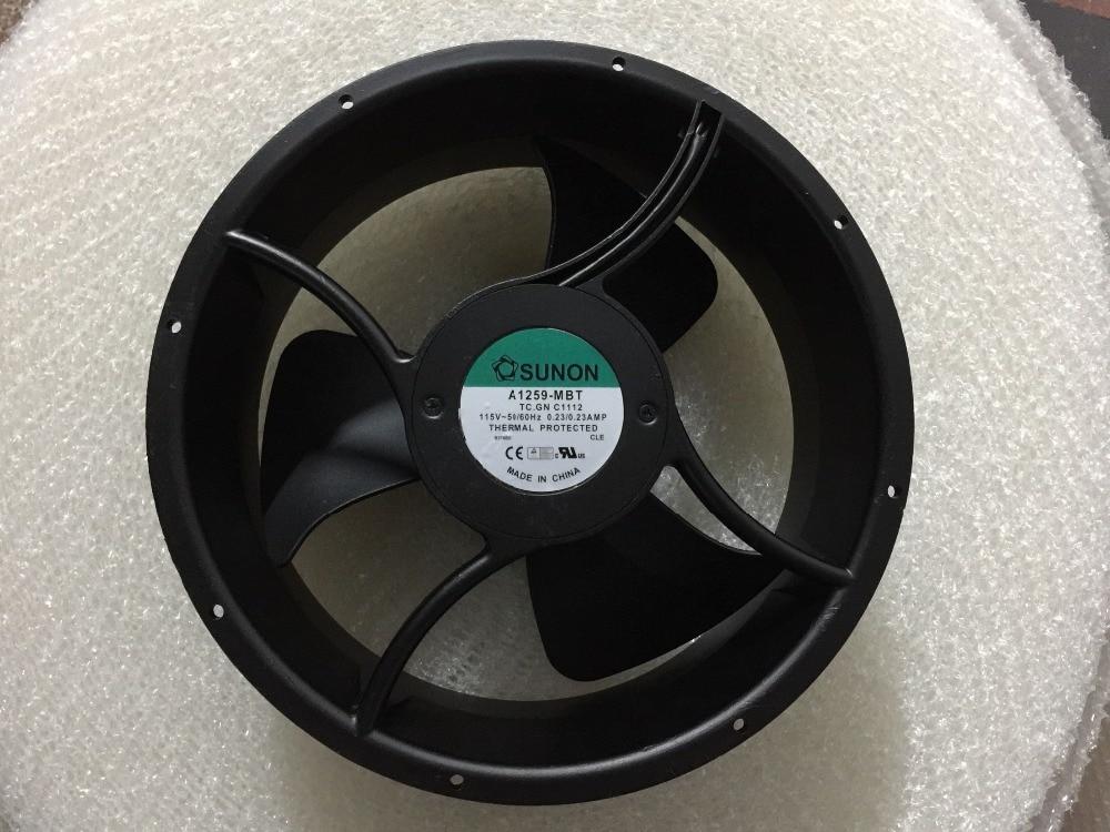Original SUNON A1259 MBT C1112 AC 115V 0 22A 254x254x89mm Server Round cooling Fan