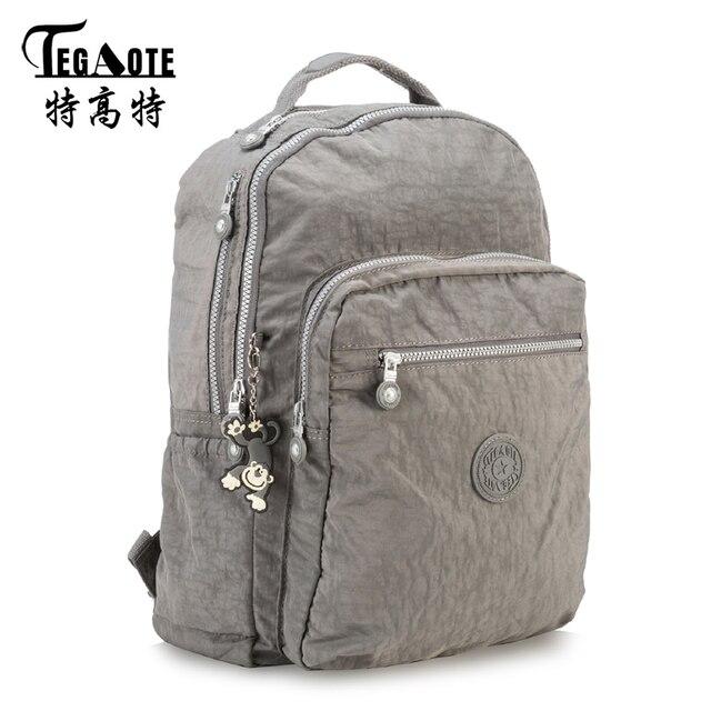 fb77193f266d TEGAOTE Waterproof Nylon Backpack for Teenage Girls Mochila Feminine  Classic Big Backpacks with logo Women Man Travel Bagpack