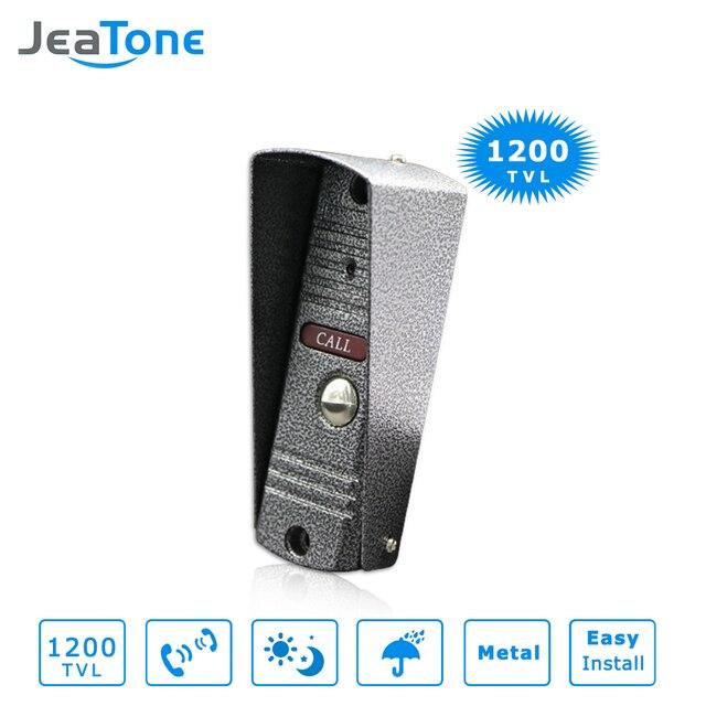 1200TVL JeaTone Видео-Телефон Двери ИК-Камера Дверной Звонок Широкоугольный IP65 Водонепроницаемый Высокого Разрешения День/Ночь Видения
