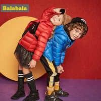 Veste d'hiver Balabala filles garçons duvet de canard enfants vêtements de mode veste vêtements épais pour enfants pour 20 degrés en dessous de zéro