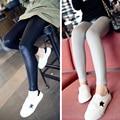 Niños Pantalones de Las Muchachas Del Otoño Del Resorte 2017 Nuevo Chicas Flacas Pantalones Lápiz Leggings para Niñas Ropa Negro Gris Adolescente Ropa Niñas