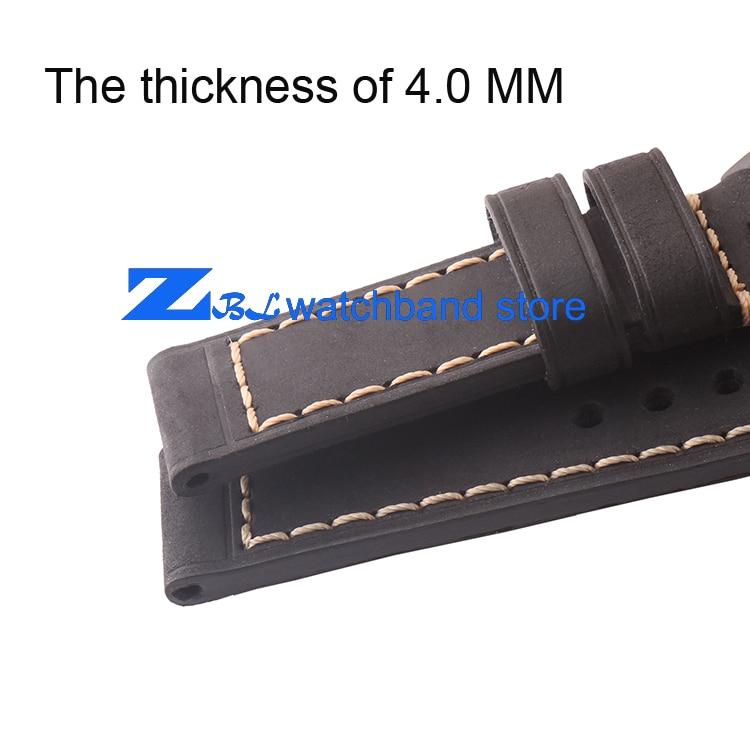 Kalın watch band hakiki deri kordonlu saat 20mm 22mm 24mm 26mm erkek - Saat Aksesuarları - Fotoğraf 4