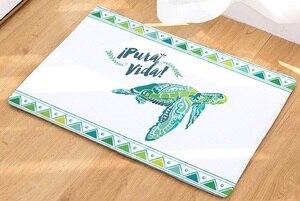Image 4 - CAMMITEVER alfombra con estampado de tortuga marina, Tapete de bienvenida para el pasillo, alfombras Tapete de baño, cocina, felpudo para el hogar