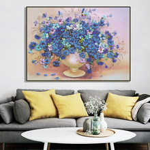 Needlework DMC cross stitch,kit For Embroidery set,blue daisy vase flower print pattern Cross-Stitch painting wedding gift(China)