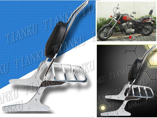 Chrome Motorcycle Rugleuning Sissy Bar Bagagerek Voor Honda Steed Vlx400 Vlx 600
