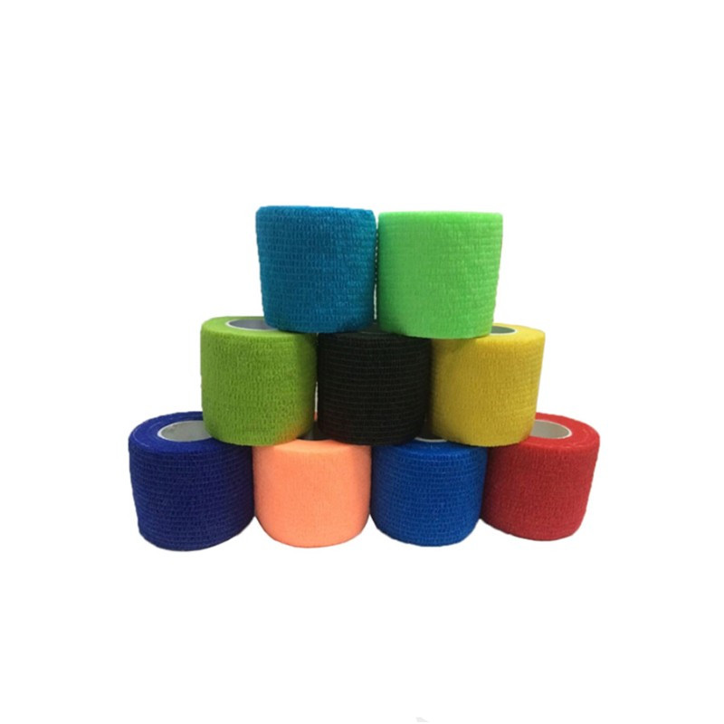 2.5cm*4.5m Self-Adhesive Elastic Bandage First Aid Medical Health Care Treatment Gauze Tape