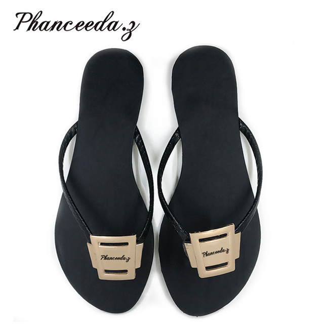 New 2018 Shoes Women Sandals Fashion Flip Flops Summer Style Flats Solid Slippers  Sandal Flat Free 005ef4cb2780