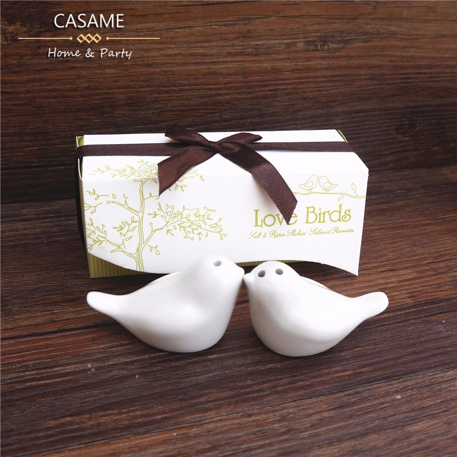 Love birds salt and favors gifts 5 sets newest wedding favors bird ...