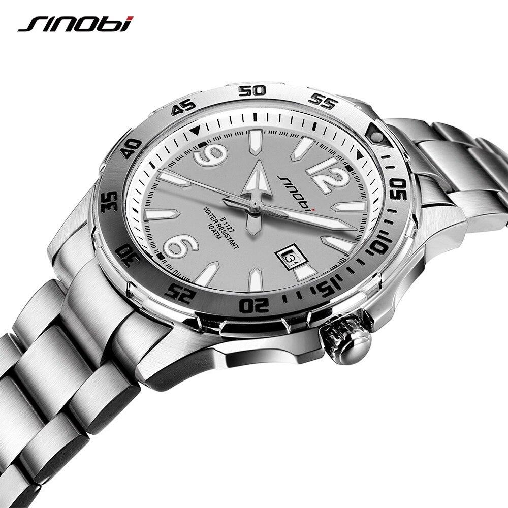 f39d831ddcd 2018 Homens Relógio SINOBI Moda Esporte Relógio de Quartzo Mens Relógios  Top Marca de Luxo Negócio