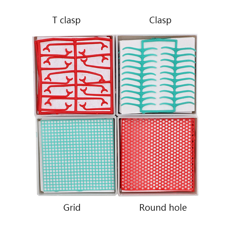 1 Box Dental Lab Material Dental Wax Mesh Wax Net Round Hole Square Grid Clasp Shape Wax Sheet For Cast Metal Partial Design