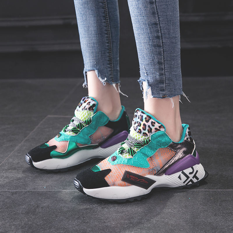 Sooneeya Patchwork Green Beige Woman Sports Shoes 2019 Summer Breathable Air Mesh Running Shoes Women Cheap Sneakers Zapatillas