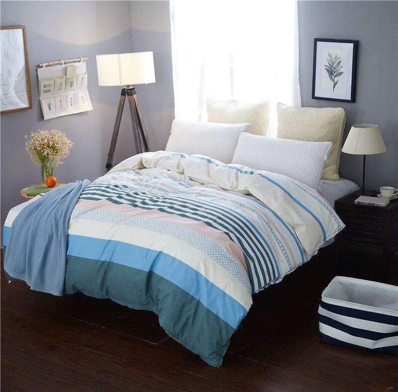 Fashion Bright Stripes Duvet Cover 1pc Cotton Quilt Cover for Home Bed Soft Material Bedding Set 150x200cm/180x220cm/200x230cm