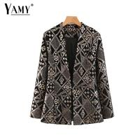 Vintage embroidery sequined velvet blazer women coat Winter women blazers and jackets korean lady office blazer femme 2019