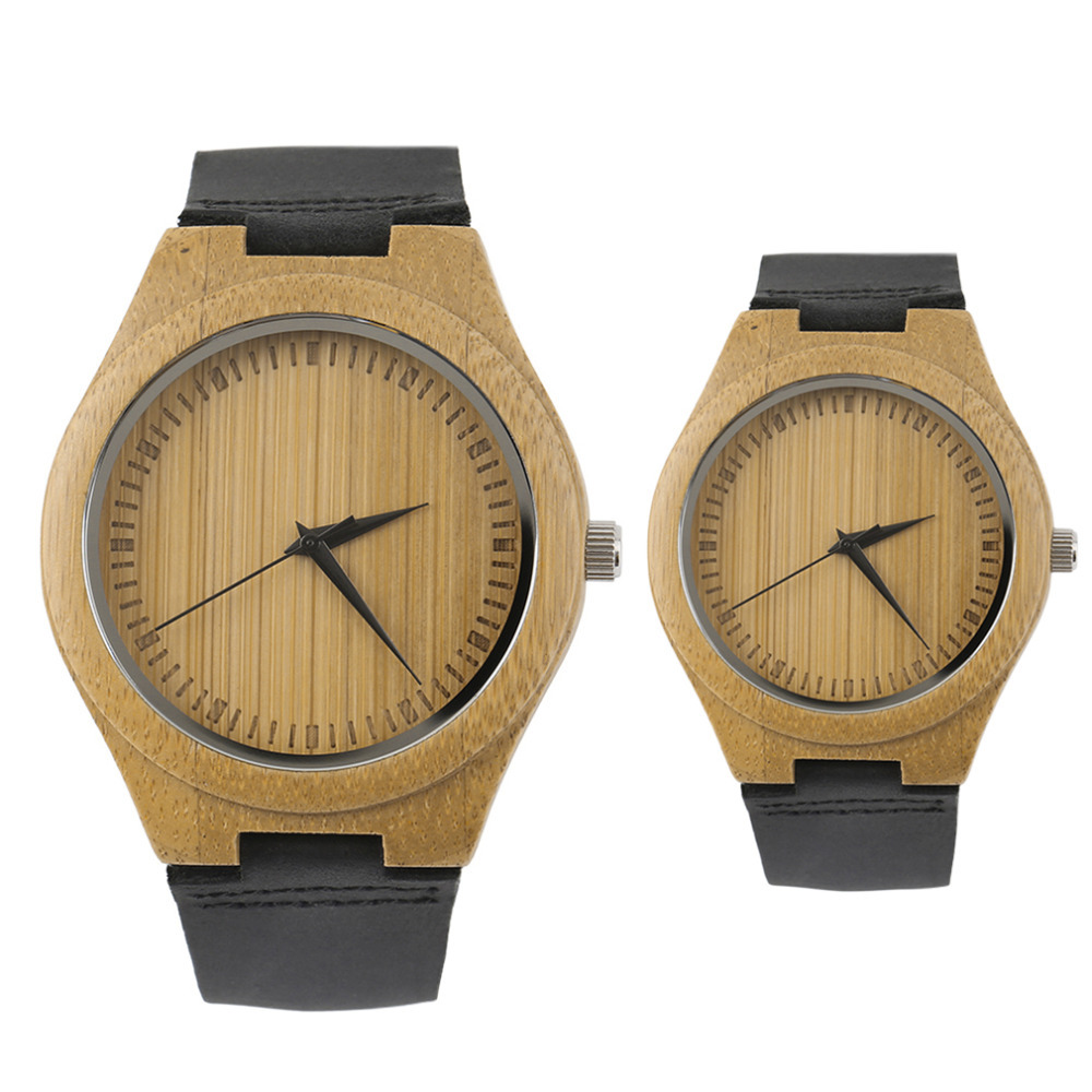 Genboli Unique Vintage Wooden Dial Men Watch Quartz Watches Men Women Couple Watch Black Pointer Valentine's Day Gifts Relogio