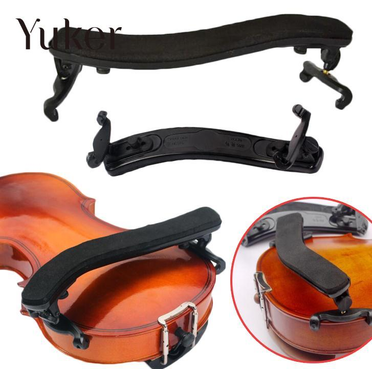 Yuker 3/4 4/4 Violin Shoulder Rest Pad Fully Portable Black Shoulder Violin Accessory william 4 4 fom violin shoulder rest pad black white