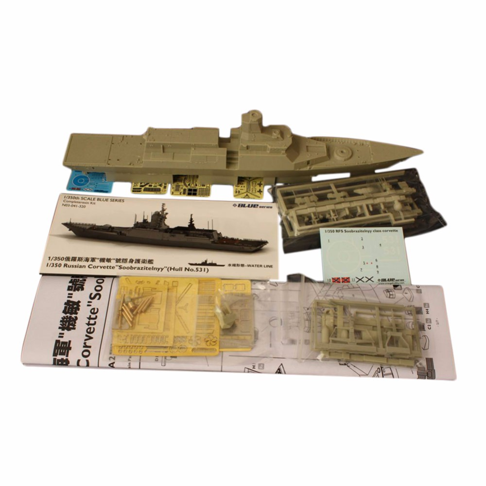 OHS Orange Hobby N03041320 1/350 Russian  Corvette Soobrazitelnyy Hull No 531 Assembly Scale Military Ship Model Building Kits ohs tamiya 60102 1 35 tyrannosaurus diorama set assembly scale dinosaur model building kits