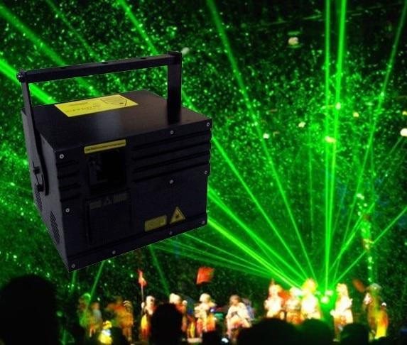 CNI Single Green 8000mW 8W Animation Laser+DT40K Pro+Flightcase