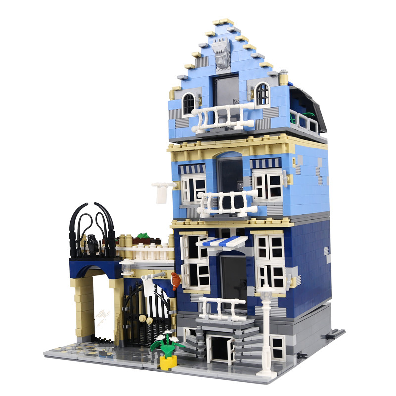 Lepin 15007 1257Pcs Factory City Street European Market Model Building Block Set Bricks Kits DIY Children Gifts 10190 a toy a dream lepin 15008 2462pcs city street creator green grocer model building kits blocks bricks compatible 10185