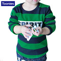 Hot Sale Kids Long Sleeve Baby Boys Striped Printed Fashion Cotton Hoody Spring Autumn Clothing Children Sweatshirts 2 Color