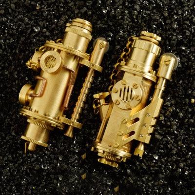 Vintage brass Steam punk Kerosene lighter Retro nostalgic collection oil lighter cigarette lighter 90 42mm 190g
