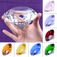 Huge 100mm Crystal Glass Diamond Paperweight Quartz Crafts Home Decor Fengshui Ornaments Birthday Wedding Party Souvenir Gifts