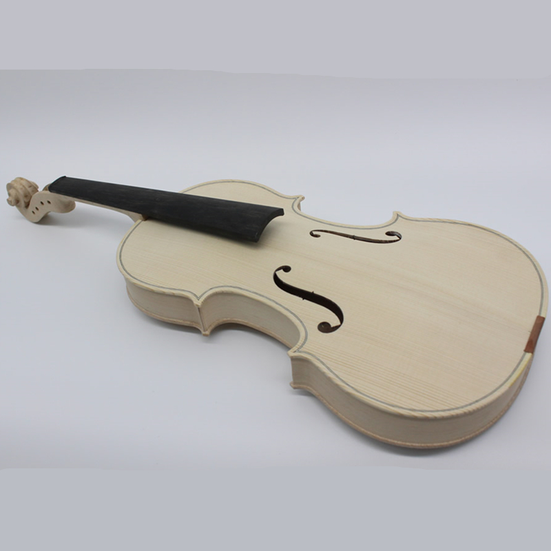 High Quality Unfinished Only White Violin Selective 10 Years Natural Dried Maple Back Spruce Top Handmade