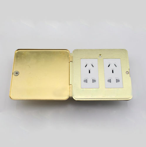 Flip Type Floor Socket Double Five Hole Power Socket Panel Ground Outlet Receptacle scinder switched socket package 15 steel frame two or three five hole electrical outlet wall switch panel switch