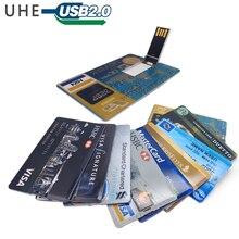 Waterproof pen drive super slim card usb flash drive 4GB 8GB 16GB 32GB 64GB credit card memory stick bank card pendrive stick