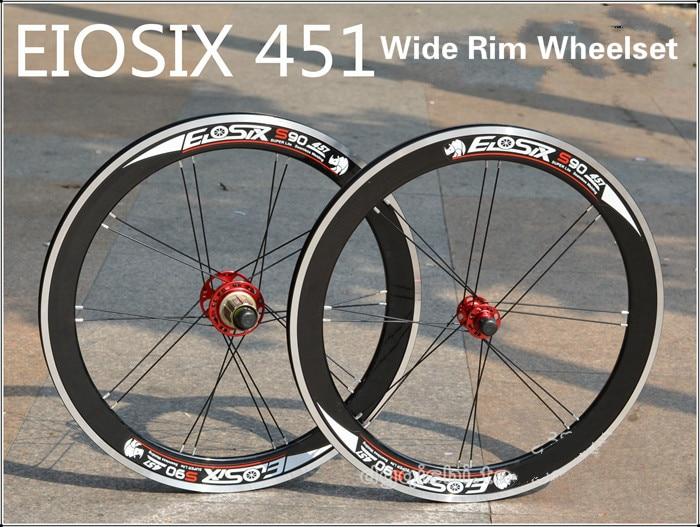 EIOSIX BMX Wheelset 451 22inch Folding Bike Wheel S90 Wide Rims 120ring 8-11 speed BMX Parts цена