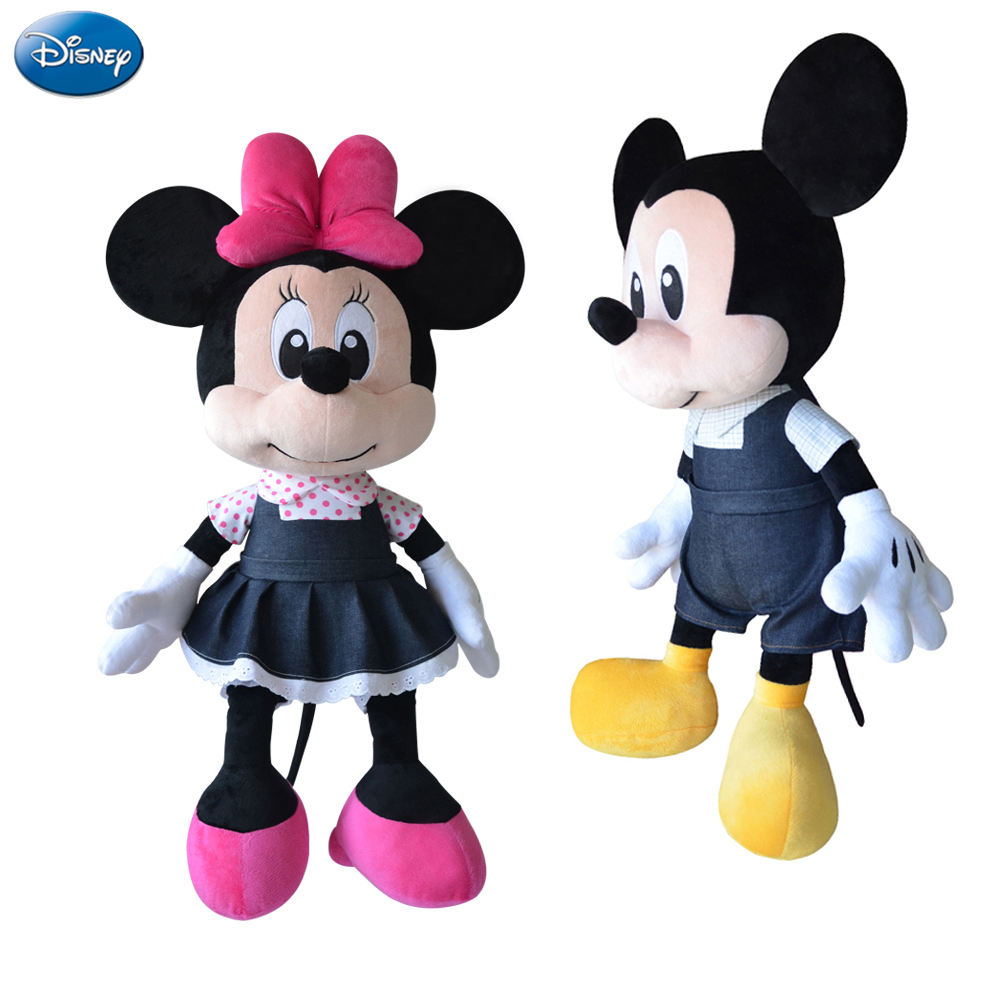 Disney Brand Mickey Mouse Minnie 44cm Big Plush Stuffed Animal Toys Doll Baby Boys Girls Kids Toys for Birthday Christmas Party 12pcs hair accessories mickey minnie mouse ears solid black sequins headbands headwear for boy girl birthday party celebration